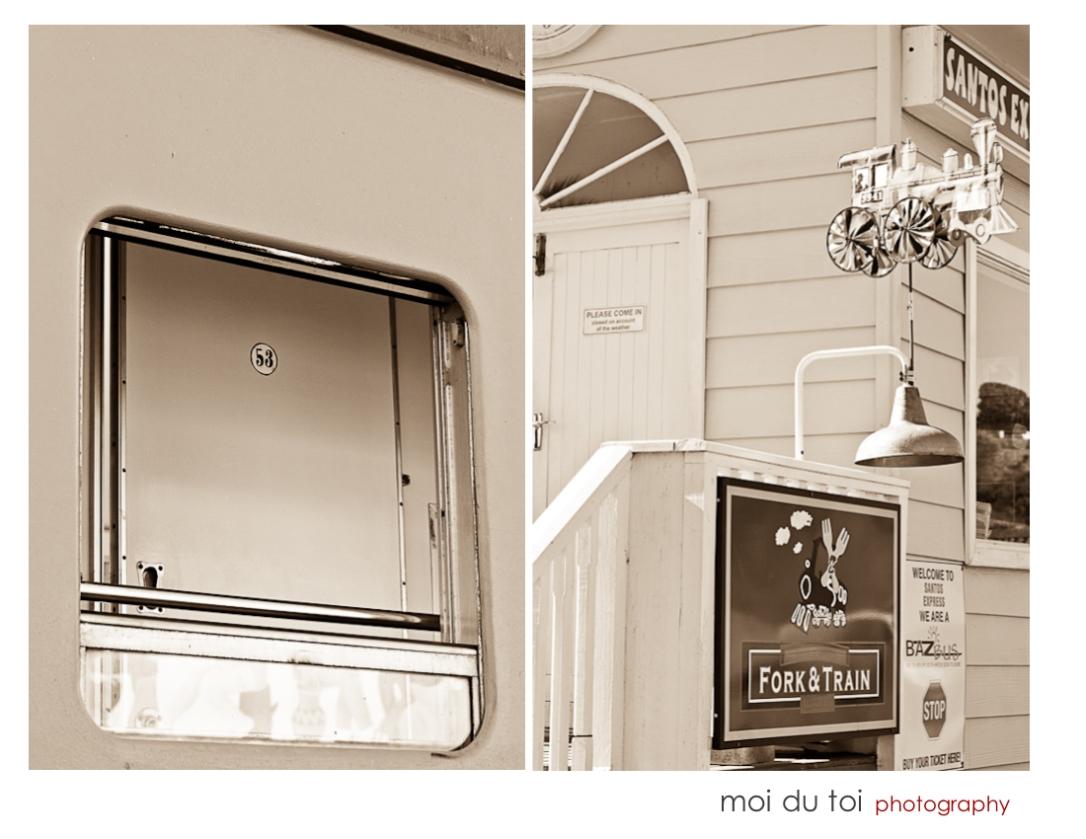 train carriage window sepia