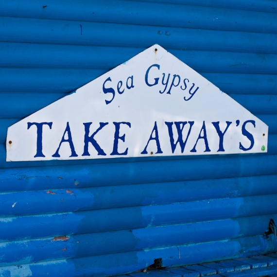 Sea Gypsy take away signage