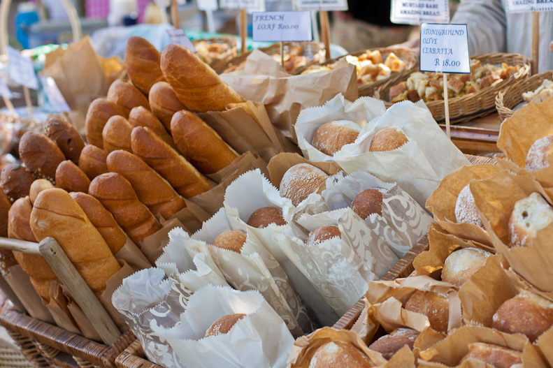 Bread stall at the market
