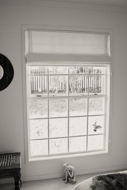 Faux sash windows, with cottage pane burglar proofing