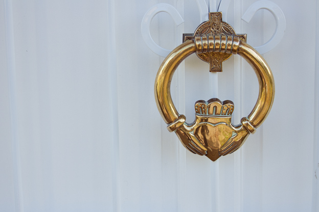 Claddagh knocker, natural light photography