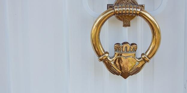 Claddagh knocker, natural light photography