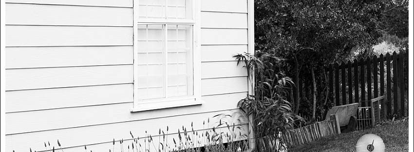 Black and white image cottage