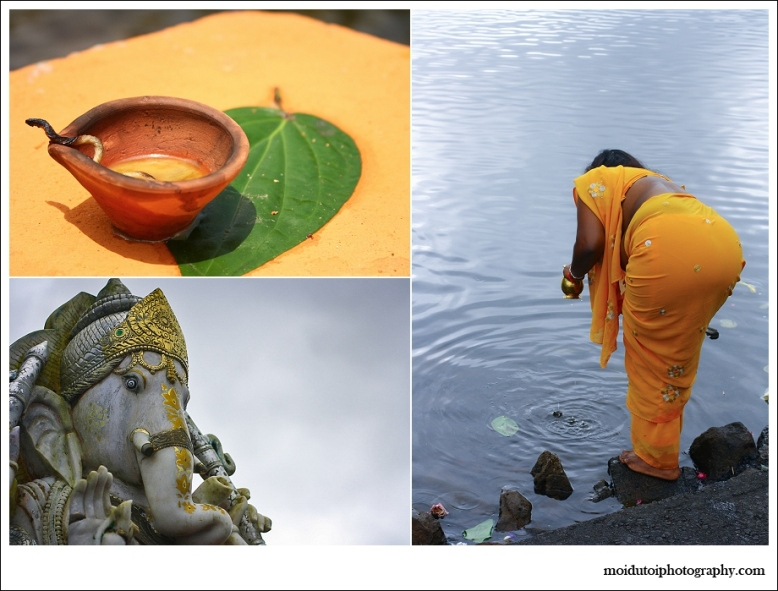 Ganesha & worshipper at the Sacred Lake
