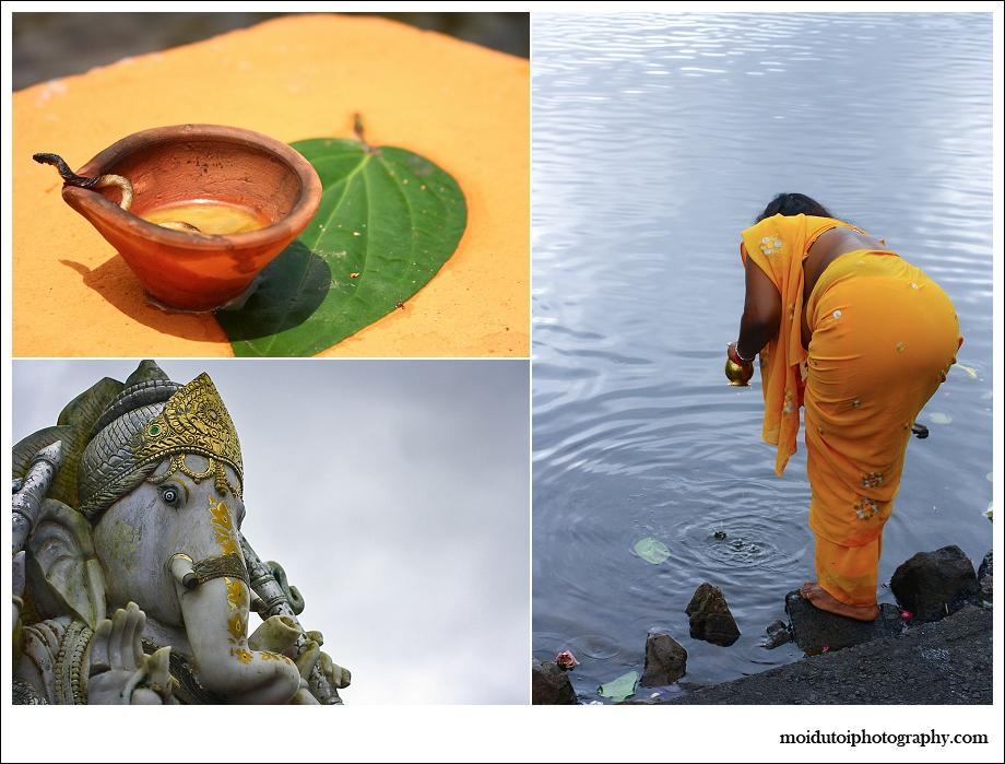 Ganesha & worshipper at the Sacred Lake