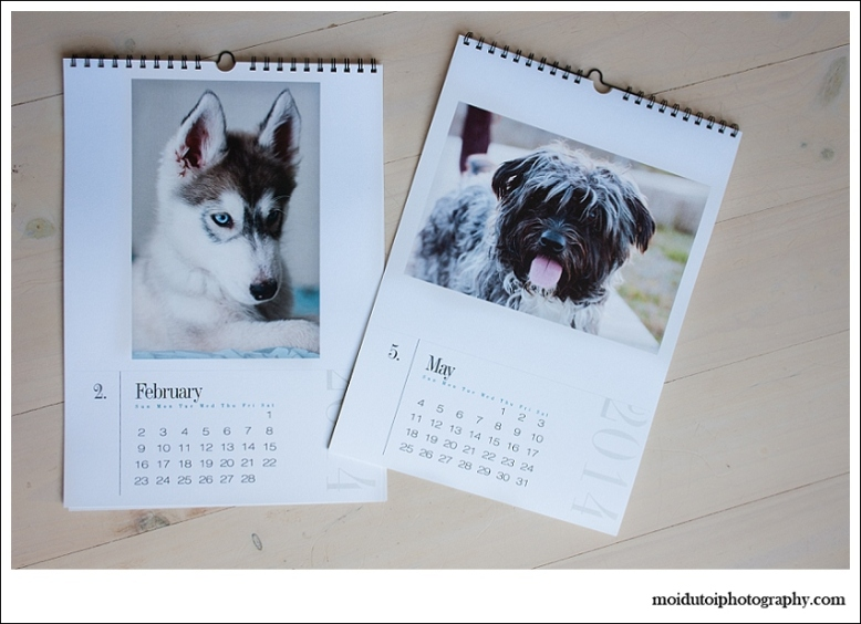 Beautiful printed calendars, moi du toi photography, products