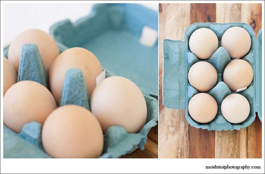 Free range eggs, happy hen, natural light