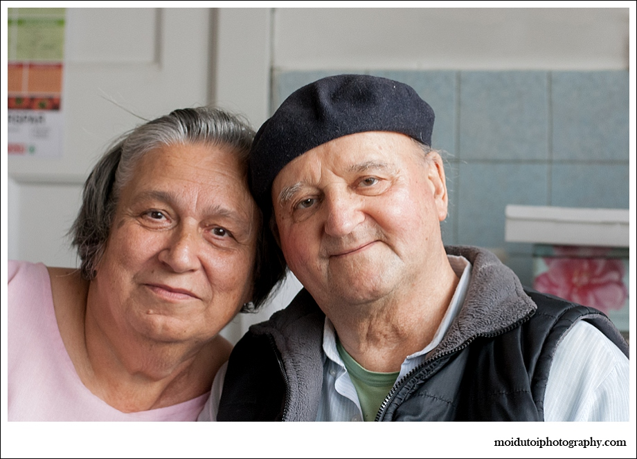 Natural light portrait, older couple, moi du toi photography