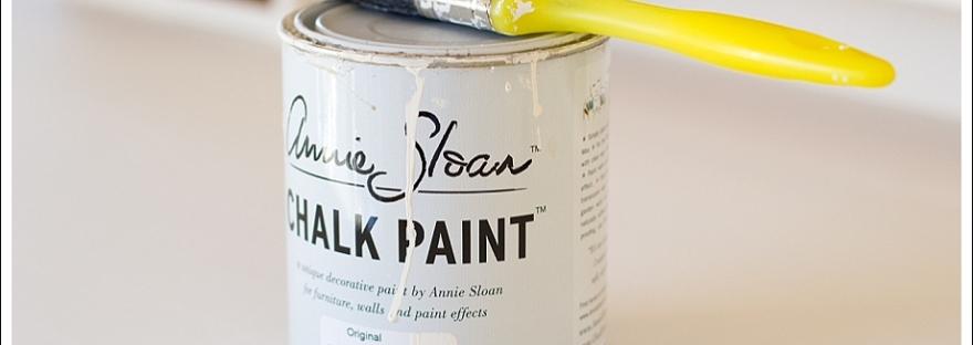 annie sloan chalk paint, desk remodel