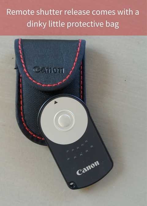 Remote shutter release comes with a dinky little protective bag