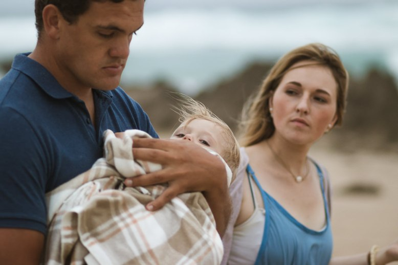 overcast family beach shoot with sedgefield photographer moira du toit
