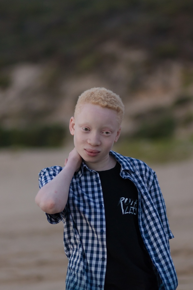 Teenage boy portrait on a Sedgefield beach photoshoot