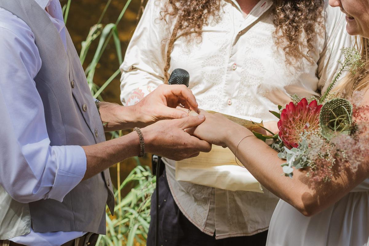 outdoor weddings photos taken near a river at Hoekwil Garden Route during a wedding shoot with moi du toi photography