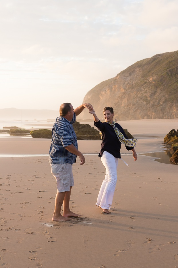 Couple dancing on beach sedgefield beach photoshoot