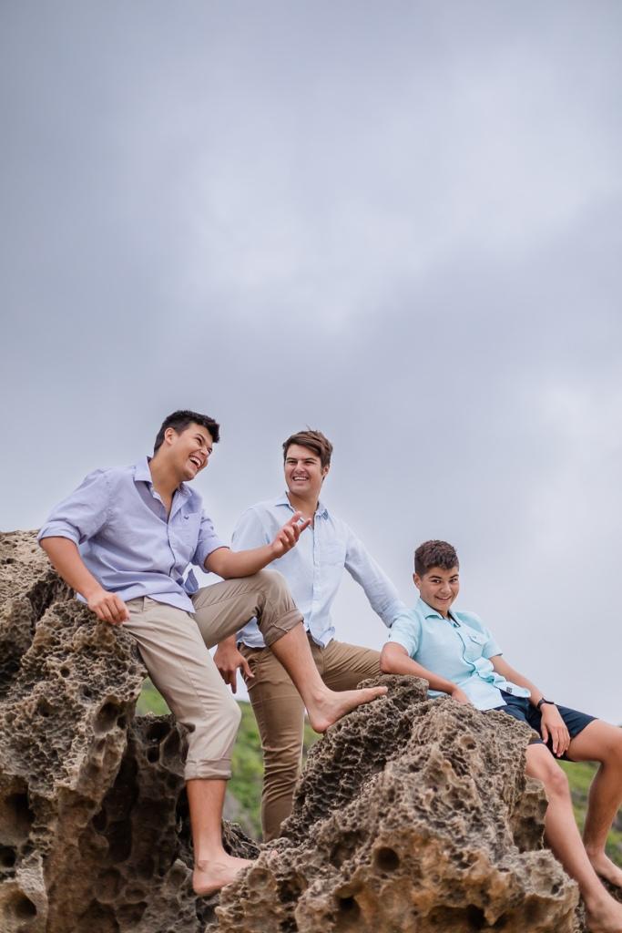 young men family beach photo shoot brenton on sea knysna