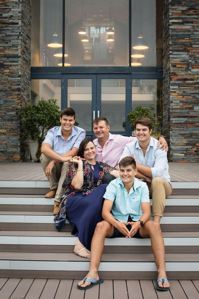 family of five photo shoot brenton on sea knysna