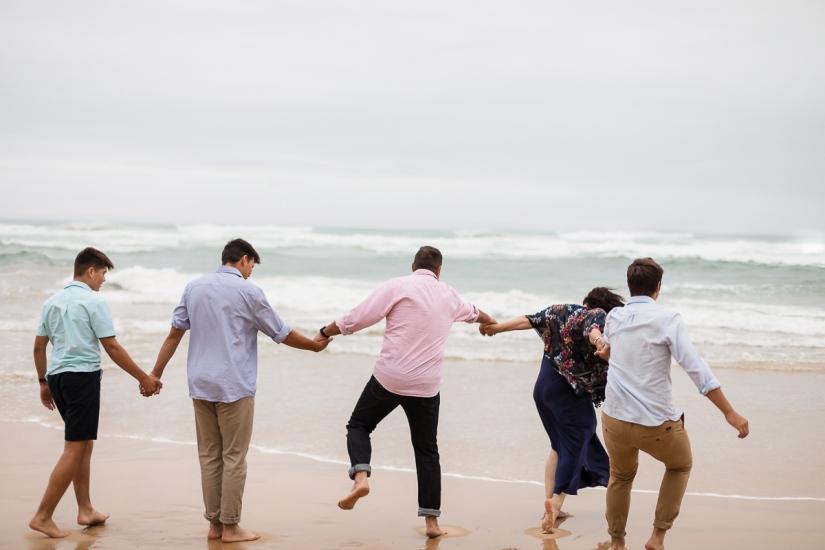 family of five beach photo shoot brenton on sea knysna