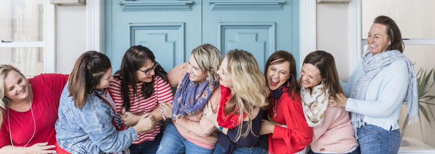 ladies group photoshoot at Myoli Beach house Sedgefield