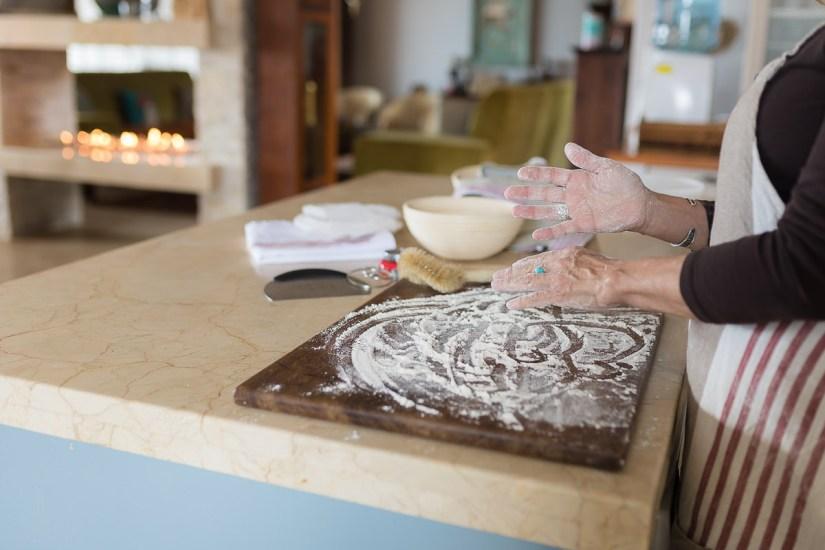 woman making sourdough bread personal branding photoshoot Cola Beach sedgefield knysna