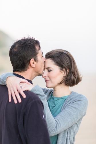 romantic image of couple nuzzling