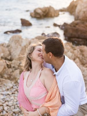 romantic image of couple kissing