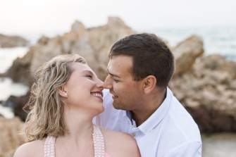 romantic image of couple laughing